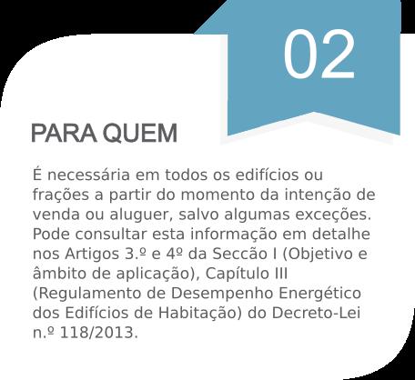 Certificação energética - Para quem